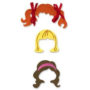 Sizzix Originals Die - Dress Ups Girl Hair