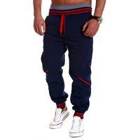 Мужская мода Длинные Брюки 2017 Новый Повседневная Эластичный Пояс Хлопок Свободные Pantalon Homme Плюс Размер