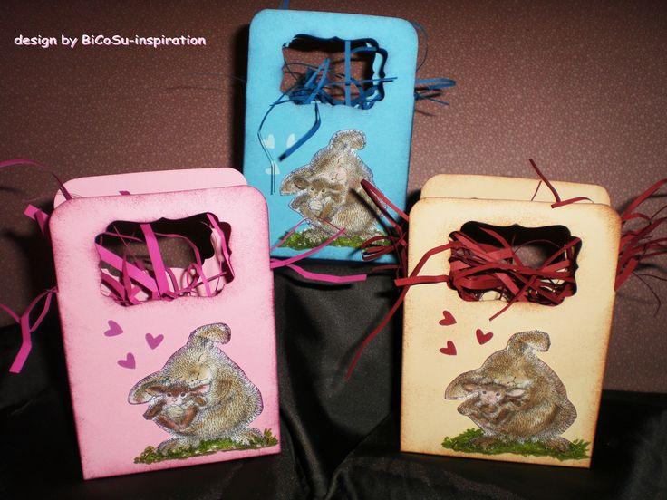 Zur Geburt  kleine Täschen  - sweet little baby bag --- motive from Housemouse stamp