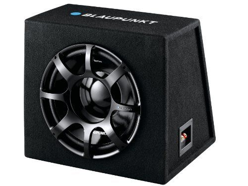 Blaupunkt GTb 1200 DE - 850-Watt 12-Inch 4-Ohm Preloaded Subwoofer Box by Blaupunkt. $129.99. 12-Inch 850 Watts preloaded subwoofer box with spun paper cone, high current binding posts and high density carpet. General: Frequency Response: 35-500Hz Sensitivity: 91dB Dimensions: 432mm x 387mm x 378mm 4 Ohms Grille. Save 13% Off!
