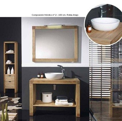 Muebles para baño: Bathroom Design, Bathroom Furniture, Rustic Bathroom, Bathroom Models, Bath, Solid Wood, Bath Vanities, Bathroom Ideas, Baño Decoracion