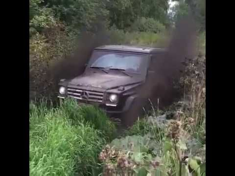 Mercedes G55 AMG Playing in Mud