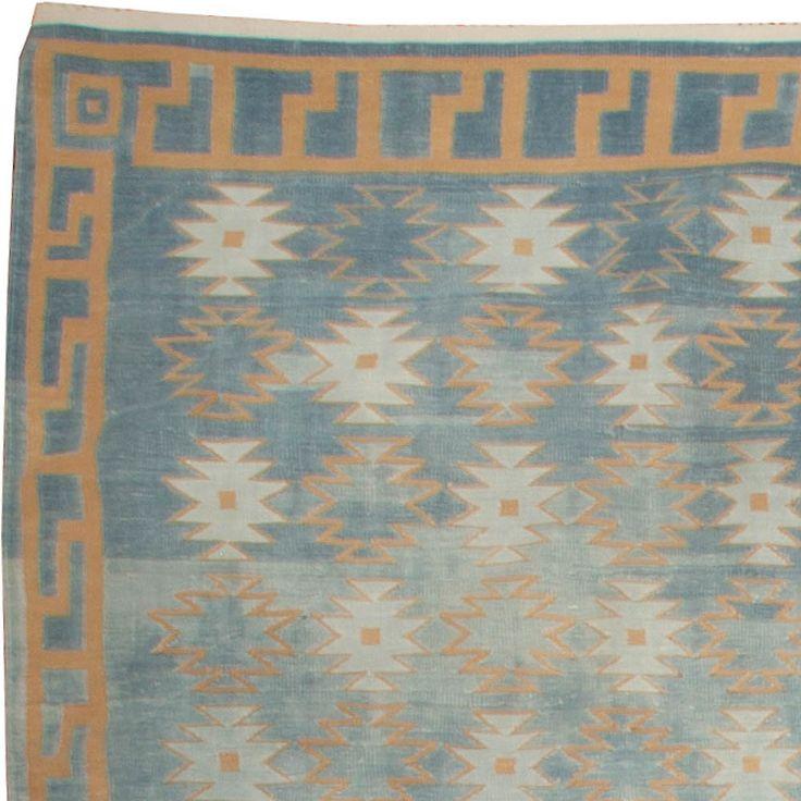 vintage dhurrie rug