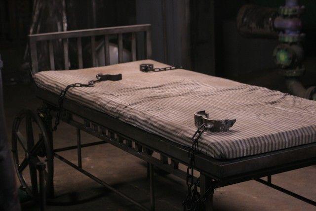asylum torture bed @Spirit Halloween