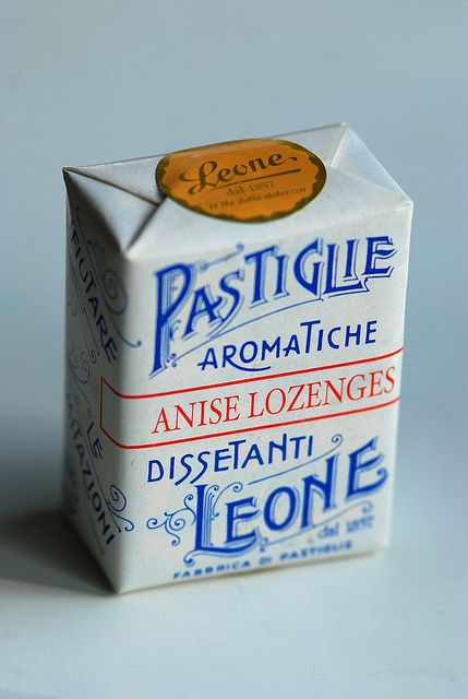 Lozenges packaging from Leone by Letterologist