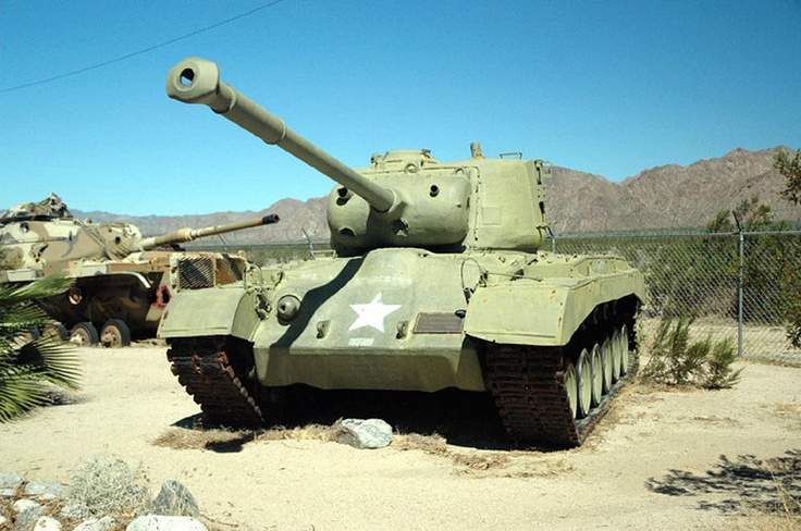 The Medium-Heavy Tank M26 Pershing was an American tank that was briefly used both in World War II and in the Korean War