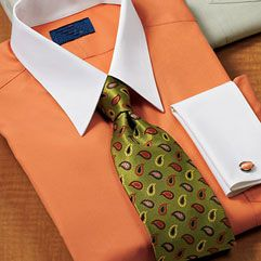 Create your own White Collar Dress Shirts so you can look smart and sophisticated. Everyone will know you are the man with a custom white collar dress shirt.