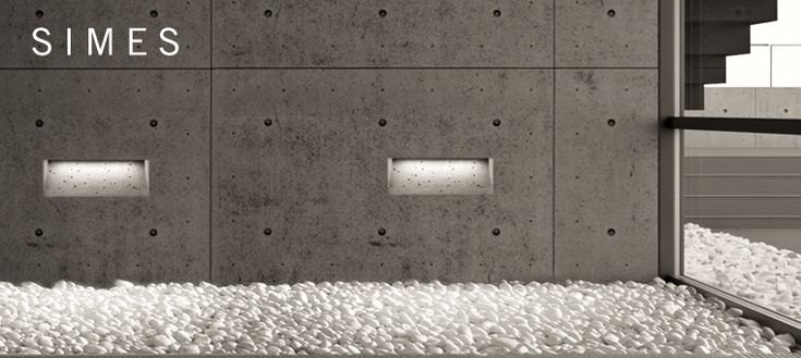 Concrete lighting void Simes by Marc Sadler