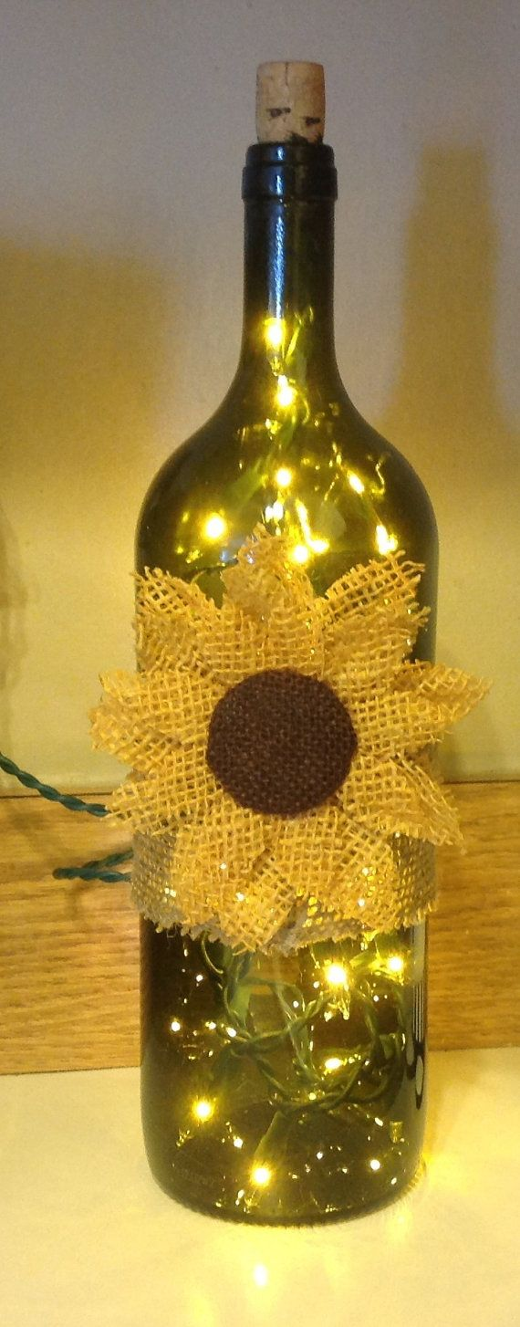 Light Up Wine Bottle by ZinksTrinks on Etsy, $25.00