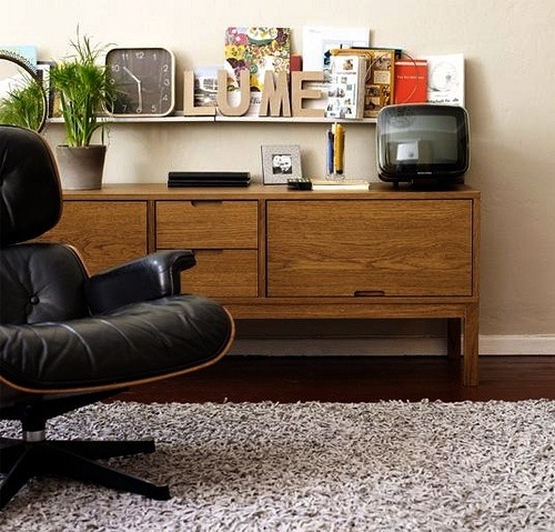 via apartment therapy midcentury modern eames lounge chair ikea stockholm credenza