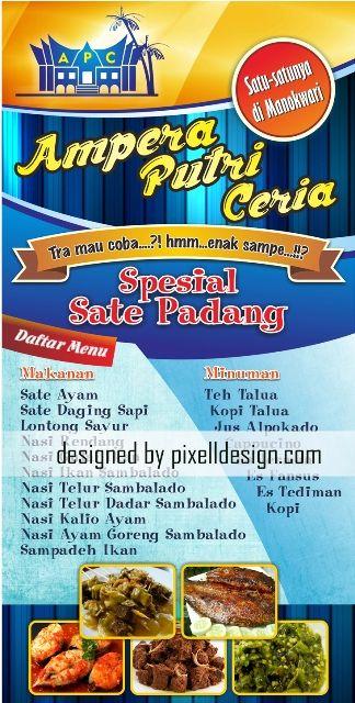 Banner Spanduk Rumah Makan Restaurant Cafe Ampera Putri Ceria
