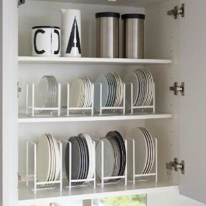 I could make those plate racks out of tiny size PVC pipe