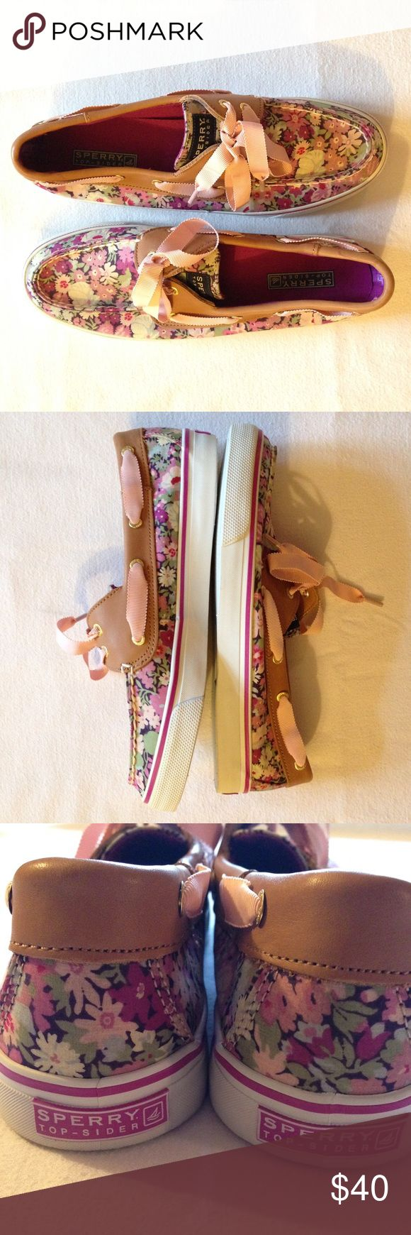 Brand New Sperry Top Sider Pastel Floral Shoes Brand New Sperry Top Sider Pastel Floral Shoes - Absolutely gorgeous floral print on these brand new Sperrys! Light brown trim. Pastel shades on purple, green and blue! Brand new, never worn. They were taken out of the box and have been sitting in the closet ever since. Ladies size 9M. TAGS: Bahama liberty boat california Sperry Top-Sider Shoes Flats & Loafers