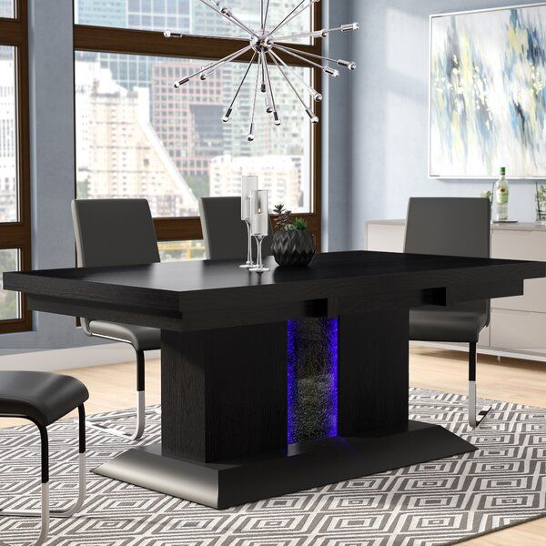 Tacconi Dining Table In 2020 Black Glass Dining Table Dining