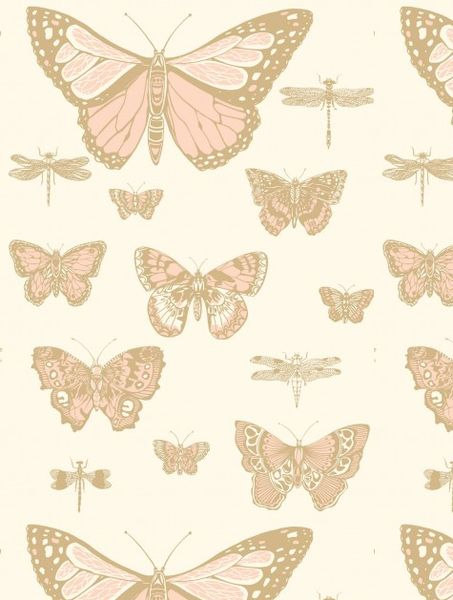 """Whimsical Elegance Butterflies & Dragonflies imported from Cole & Son of the UK is elegant, & surprises with its scale. Featuring large graphical butterflies & dragonflies - pattern repeat - 28"""" - rol                                                                                                                                                                                 More"""