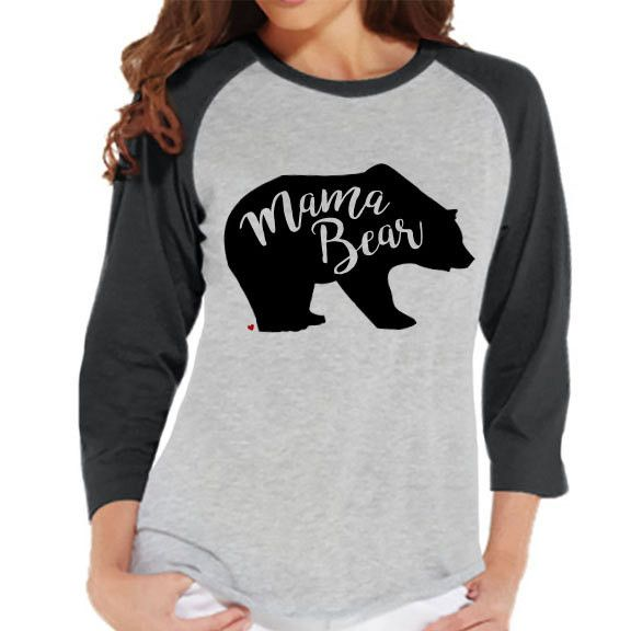 109d188bc39dd Mama Bear Shirt - Women s Grey Raglan Shirt - Women s Baseball Tee - Mom  and Me Outfit - Mother s Day Gift - Family Outfits - Gift for Her in 2019  ...