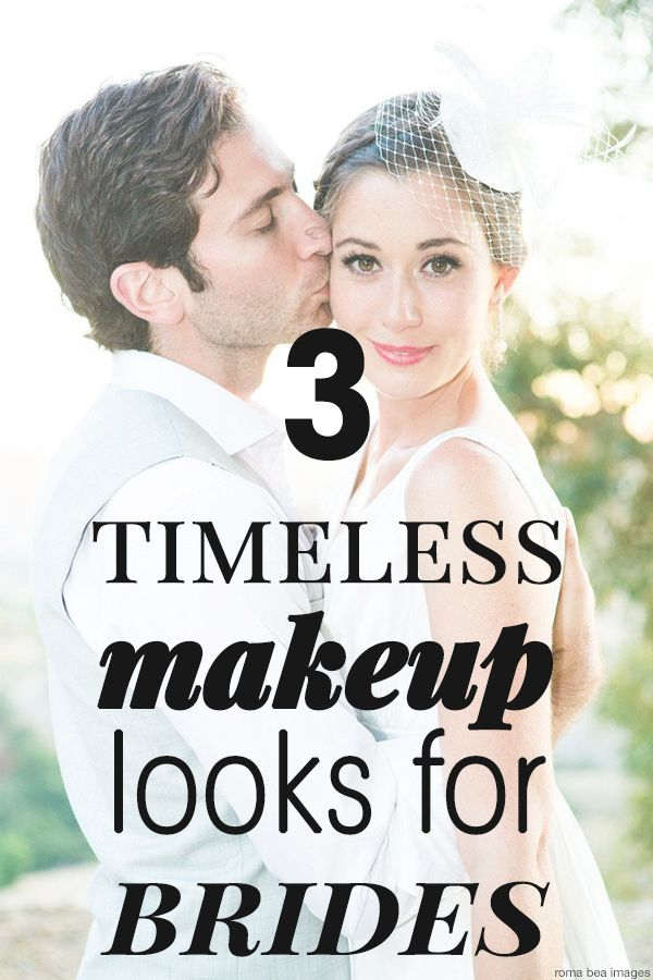 3 Timeless looks for brides #weddingmakeup #boldlips #natural #boldlipsandeyes / www.waterviewcatering.com