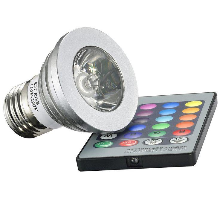 Lâmpada de Led RGB C/ Controle Remoto e-27 - Bivolt - Gaya -Casa e Segurança - Lâmpada - Walmart.com