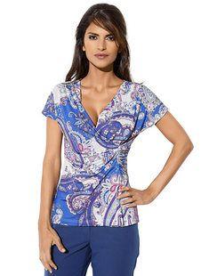 Κοντομάνικη μπλούζα ASHLEY BROOKE