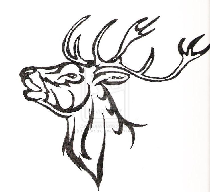 Drawn Stag Profile