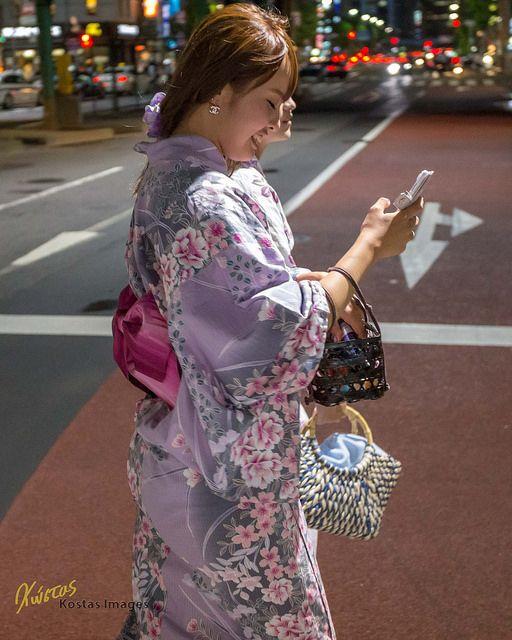 Girl in Yukata - Tokyo by Kostas Trovas on Flickr.