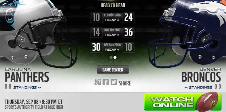Panthers vs Broncos live stream