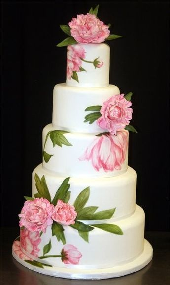 Stunning multi-dimensional peony cake! Love it!