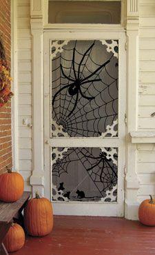 Halloween Door-when I have a screen or glass door again someday