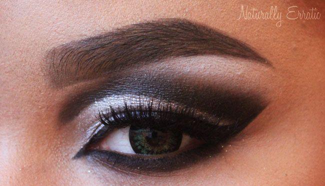 How to create a cut crease eye makeup look. Black And White Cut Crease - Step 7