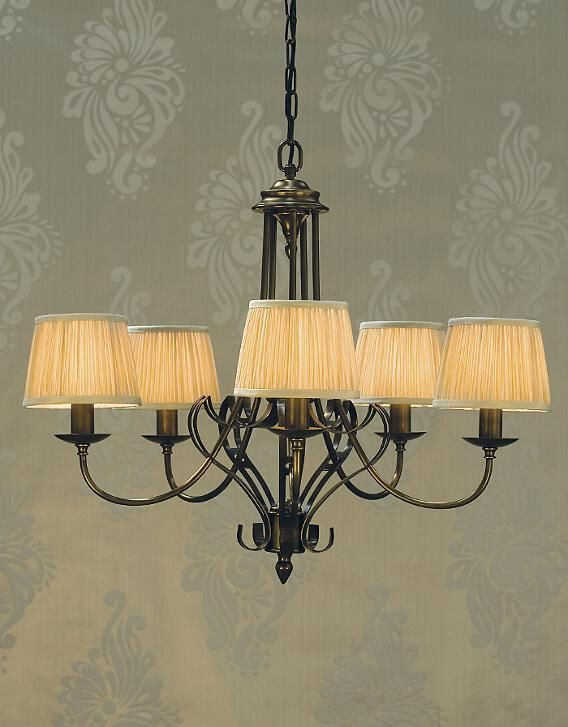 Zoya 5 Light Brass Chandelier