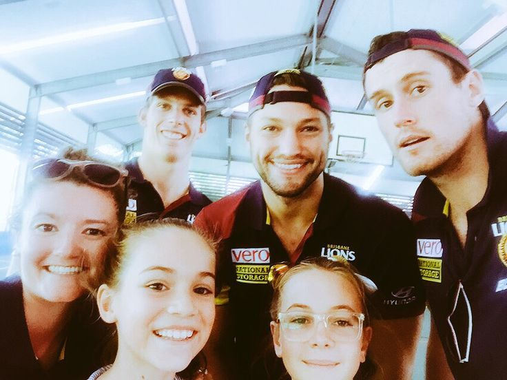 #CommunityCamp selfie with a couple of lucky students and the two Lions ruckman plus a very intelligent Justin Clarke