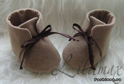 baby shoes with felt
