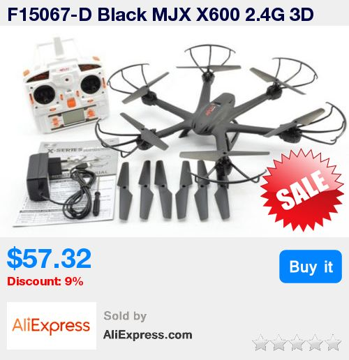 F15067-D Black MJX X600 2.4G 3D One-Key Roll Helicopter RC Drone Quadcopter UFO No Camera with Extra Propellers * Pub Date: 15:57 Jun 24 2017