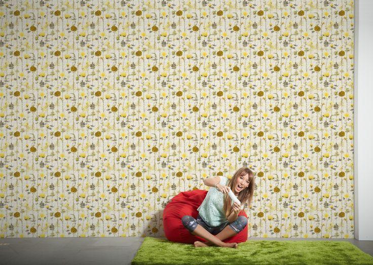 Die besten 25+ Blumentapeten Ideen auf Pinterest Blumendruck - gelbe dekowand blume fr wohnzimmer