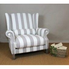 Love Chair Celeste with Stripe.  Gives your home that Hampton's feel.