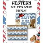 "If you are doing a western theme, this resource will be sure to brighten your classroom! It contains: * One bulletin board poster - ""Best in the We..."