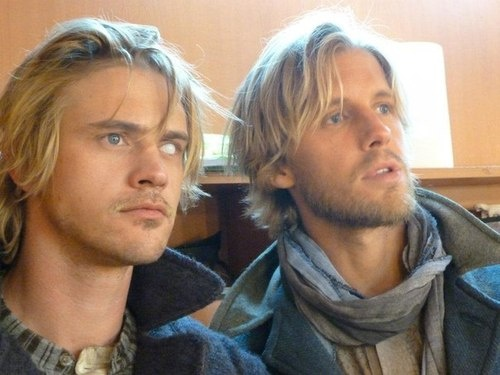 Boyd Holbrook and Matt Barr