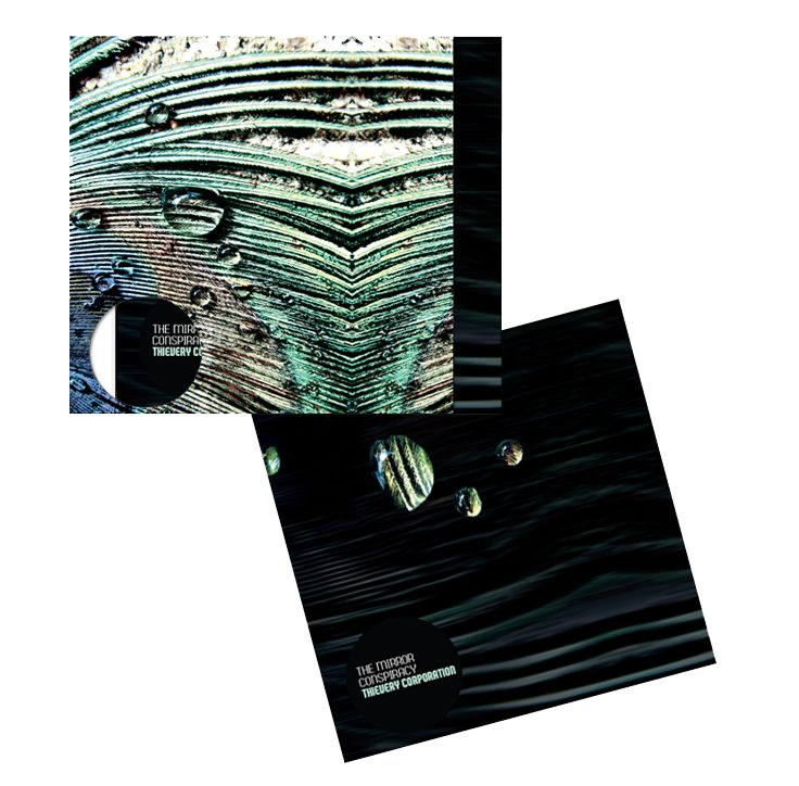 The Mirror Conspiracy – Thievery Corporation | T. Stenersen. LP-cover & Inner sleeve. Album art. Music design. Abstract, organic, mystical, exotic, digital art, organic outcome.