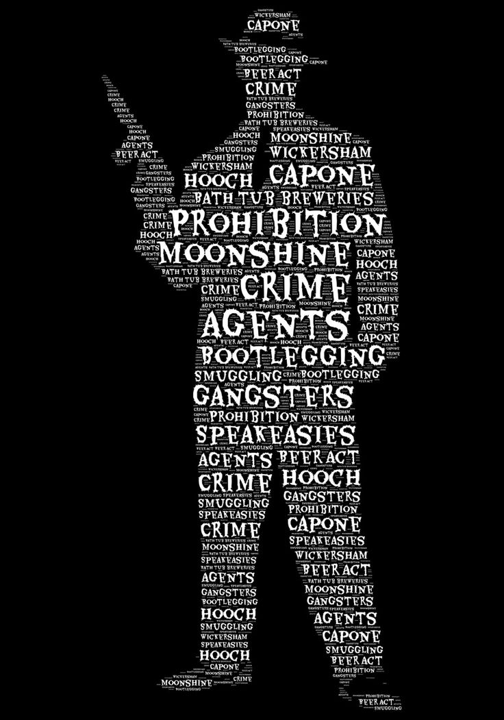 jivespin | Prohibition gangster word cloud