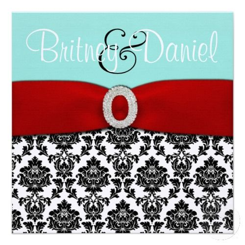 11 Best Tiffany Blue Red Wedding Invitations Images On