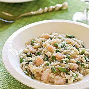 Gluten-Free Seafood Dishes    Greek Shrimp and Asparagus Risotto   MyRecipes.com