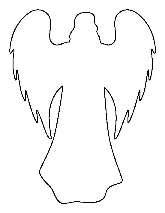 angel wings template outline - photo #6