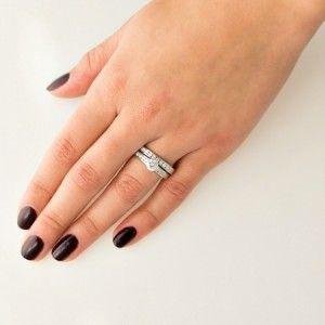 "FERI My Valentines Ring-  - Exclusive FERI 950 Siledium silver - Exclusive dual natural rhodium and palladium plating - Set with exclusive FERI Swan cut lab stones - Colour: white - Dimension: 0.2"" width  Get FERI popular jewelry"
