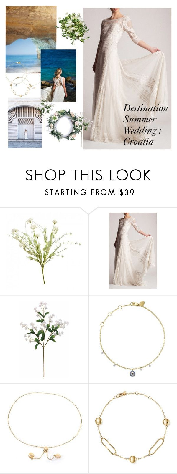 """Destination Summer Wedding: Croatia"" by laney-6428 ❤ liked on Polyvore featuring Temperley London, BHLDN, Meira T and Bloomingdale's"