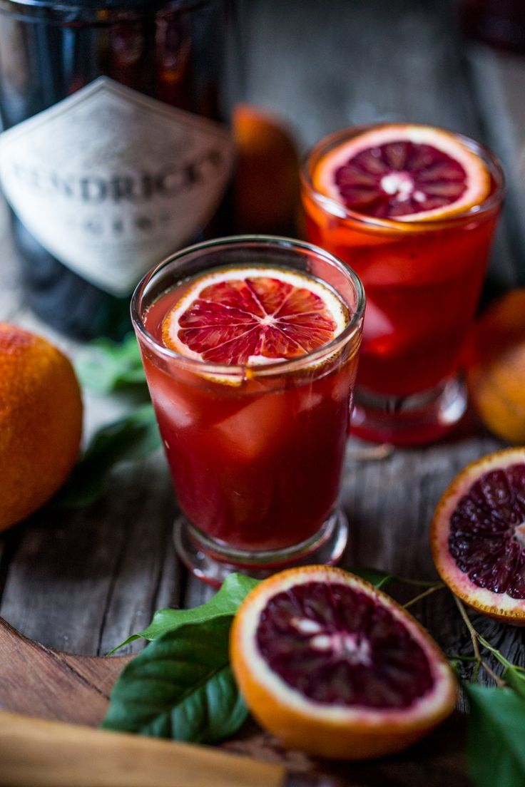 Blood Orange Negroni - the classic Italian cocktail with a splash of fresh squeezed orange juice. | www.feastingathome.com