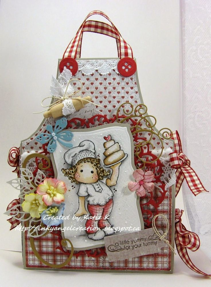 Inky Angel: Recipe Card Caddy ~ Buttons and Bows at ABC Challe...
