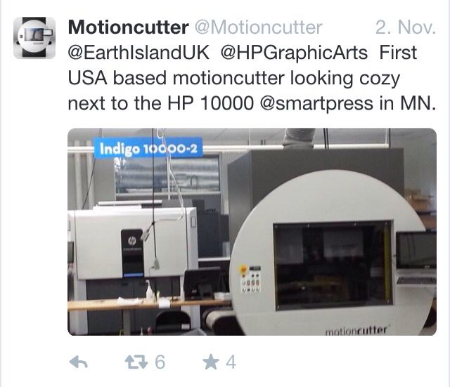 First USA based motioncutter looking cozy next to the HP 10000 @smartpress in MN.