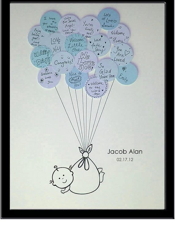 Large Baby Shower Guest Book Print for up to by SayAnythingDesign, baby-shower