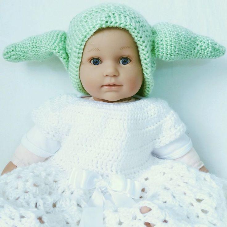 Handmade Baby Girl Boy Crochet Yoda  Photo photography Prop 12 - 24 months #Handmade