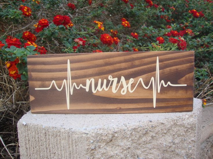 Nurse Heartbeat - Nurse Decor - Career Blocks - Medical Decor - Nurse Gift - Primitive Wood Blocks - Rustic Decor - Stained Wood Sign by DeannasCraftCottage on Etsy